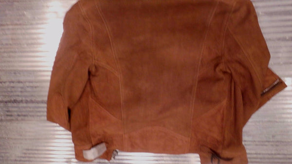 Schott Nyc Women LEATHER Perfecto Biker Perforated Suede Jacket size S NWT