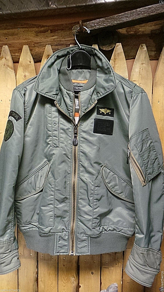 Schott NYC USA Flight Nylon Jacket 91124 -CWU-R sage  Brand New With Tags sold out