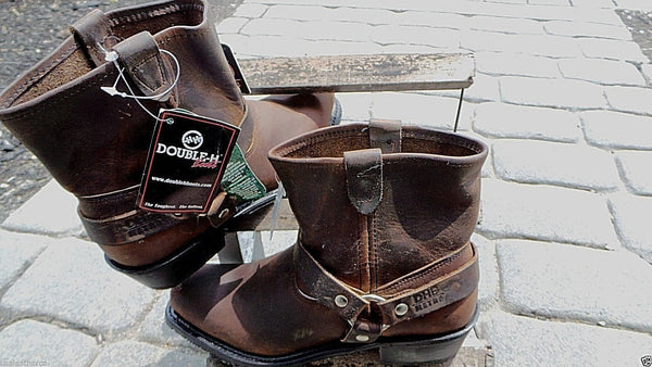 Double H DBH DISTRESS Leather Women Rare SHORTY Boots # 5060 MADE IN USA NEW