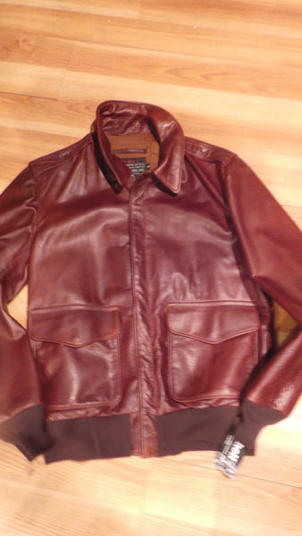 SCHOTT NYC A-2 FLIGHT LEATHER JACKET SIZE XX-LARGE MADE IN USA  GREAT SKINS SOLD SOLD