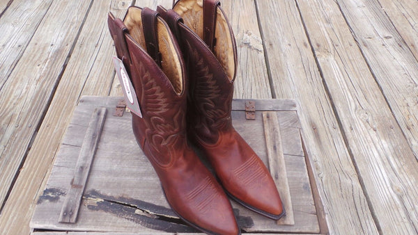 Boulet  CANADA COWBOY vintage RARE boots New in box  RARE SIZE 12 #5075