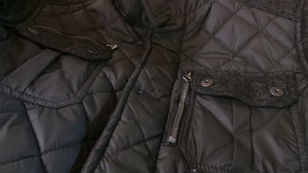 "Schott Nyc 28"" Diamond Quilted Coated Nylon Field Jacket NWT-"