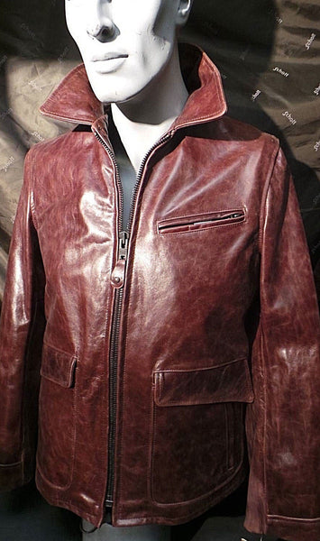 Schott NYC Stunning Leather Jacket Medium Black Cherry Made In USA  SOLD SOLD