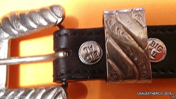 AL Beres SIlver  and leather  *Big Al *  stunning works NEW Black MADE IN USA