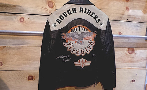 Rough Riders Stunning  BIKER Leather Rare Vachette Cowhides by Western Passion johnny hallyday new