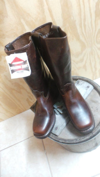 Durango leather HARNESS Boots SZ 10 M  last on hand oiled skins RARE MADE IN USA