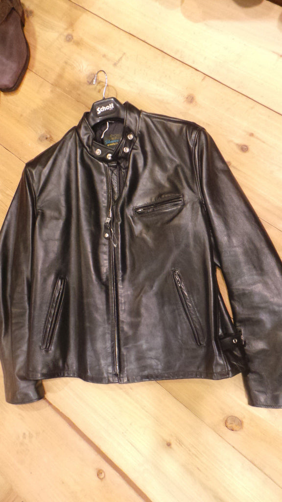 3d699576c SCHOTT-NYC-PERFECTO-641HH-Horsehide-Leather-Jacket-Black-Made-in-USA NWT  SAMPLE