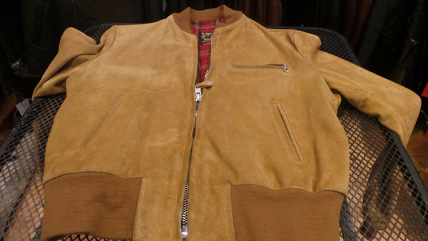 "Schott NYC ""MA-1"" Rough Out Suede Made In USA  Jacket"