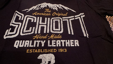Schott nyc BLACK MOTORCLE  T- SHIRT NEW IN PACKAGE  Made in USA FREE SHIPPING