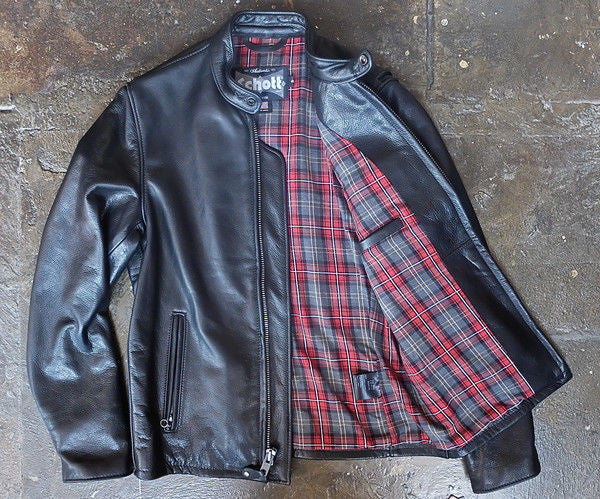 Schott NYC Racer 530 PEBBLED Cowhide Cafe Leather Jacket New w/tags Brown ASK  FOR SIZES LEFT