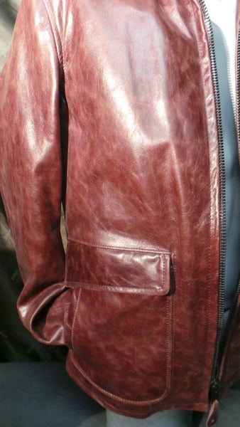 NEW Schott NYC Stunning Leather Jacket Medium Black Cherry Made In Usa sold   sold