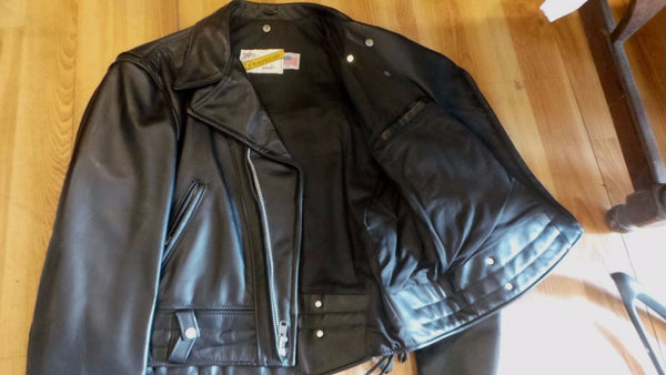 Schott NYC Rare Perfecto BLK STEERHIDES 621 Leathers size 52 NWT  MADE IN USA