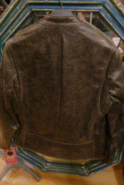 Schott NYC Leather Racer Jacket New /tags Skins Cowhides RARE#565 MADE U.S.A MED