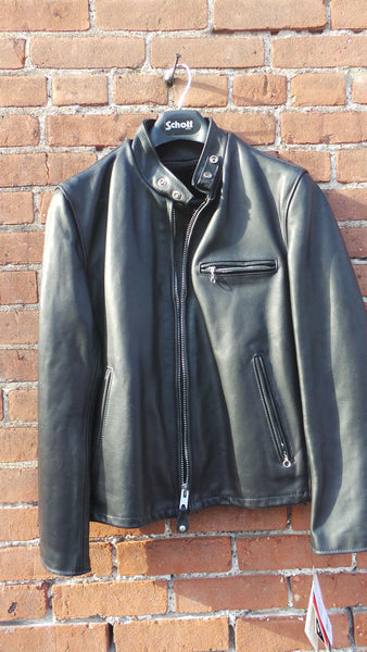 SCHOTT NYC 141 CLASSIC RACER LEATHER MOTORCYCLE JACKET NEW WITH TAGS USA MADE