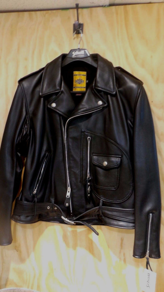 Schott-NYC-Perfecto-75th-Anniversary-1928-Black Leather-Motorcycle-Jacket-44 SOLD SOLD