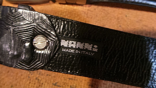 RARE NANNI Milano EXOTIC  BELTS W/ Coco   made in Italy  BLACK NWT