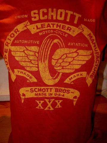 SCHOTT NYC 100%COTTON T-shirts MADE IN USA NEW IN PACKAGE rare Tshirts