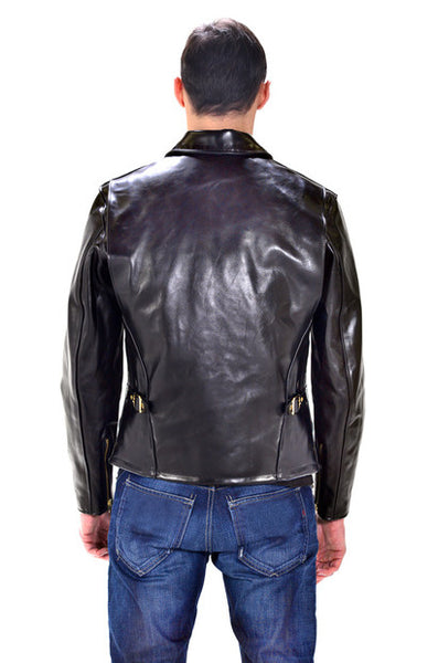 Schott NYC  Horsehide Leather Jacket SNAP ON collar   Black 689H zippers brass made in usa