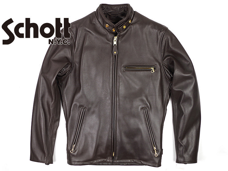 USA Classic Racer Leather Naked Motorcycle Jacket by Schott Nyc#141 MADE IN USA