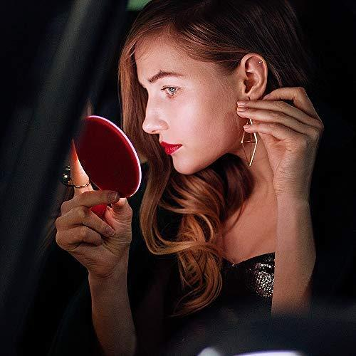 Mini Makeup Mirror & Wireless Phone Charger with LED Light Ring - GadgetCart