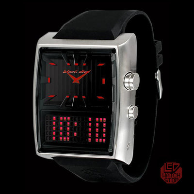 DUO PROJECT; BLACK DICE Hybrid LED Analog NOS Collectors Watch - Limited Stock Clearance!