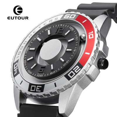 Innovative Magnetic Men's Watch Rotating Ball Bearings Fashion Sports Timepiece