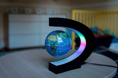 World Globe Magnetic Field Levitating LED Lamp - GadgetCart