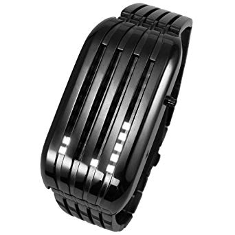 Authentic Barcode LED Watch with Unique Time Display System