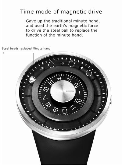 Jupiter Orbit Watch Rotating Magnetic Ball Fashion Timepiece by Eutour - GadgetCart