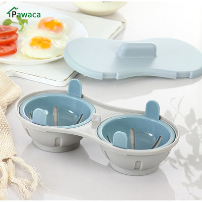 Microwave Two Egg Poacher Kitchen & Home Gadget - GadgetCart