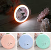 Makeup Mini Mirror with Rechargeable LED Light Ring for Portable Cosmetics Application - GadgetCart