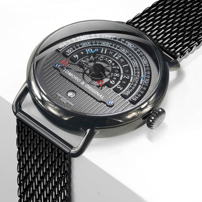 Hemicycle Unique Rotating Dial Designer Watch By TOMORO