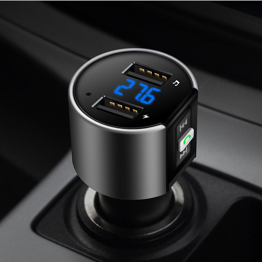 Bluetooth Dual USB Car Port: Hands-Free Calls, Stream Music & Charge Devices. - GadgetCart