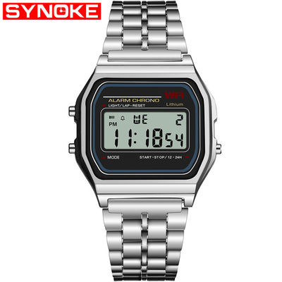 Authentic 1970s Style LCD Watch with Retro Digital Display Wrist Gear - GadgetCart