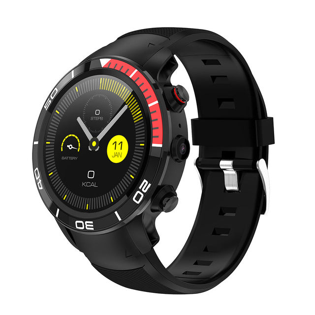 Amazing Voice Assist WiFi Smartwatch GPS Heartrate Waterproof Fitness Tracker Camera Android 7.1