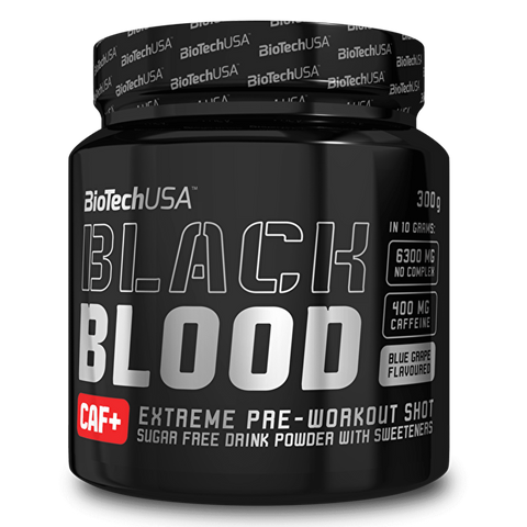 BioTech USA Black Blood CAF+ Blueberry 300g - gymstop