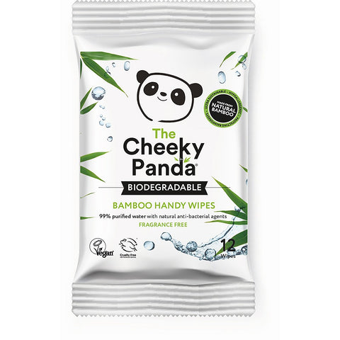 The Cheeky Panda Biodegradable Bamboo Handy Wipes 12s
