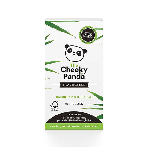 The Cheeky Panda Sustainable Bamboo Pocket Tissues 8 Pack