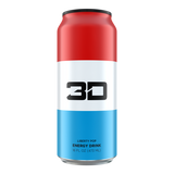 3D Energy Drink Single Can 500ml - Damaged / Dented
