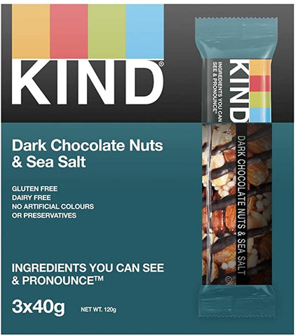 KIND Dark Chocolate & Sea Salt 3 x 40g - Out of Date