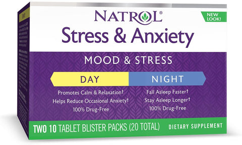 Natrol Stress & Anxiety Day+Nite 10+10