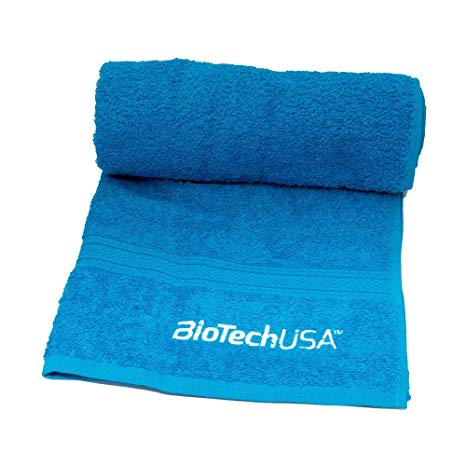 BioTech USA Blue Gym Towel - gymstop