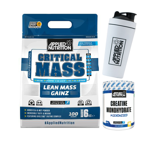 Applied Nutrition Critical Mass 6kg + Free Shaker & 250g Creatine - gymstop
