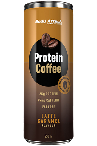 Body Attack Protein Coffee 250ml - Latte Caramel - gymstop