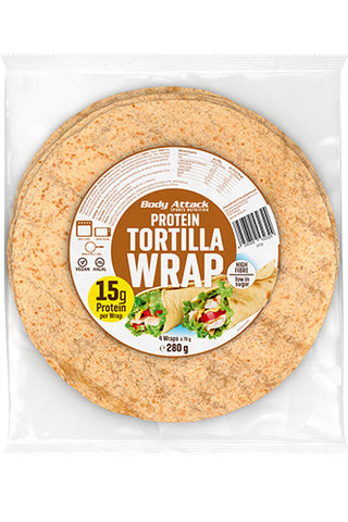 Body Attack Protein Tortilla Wraps 4 x 70g - gymstop
