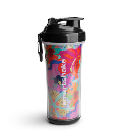 SmartShake Double Wall Shaker Cup - Flower Power - gymstop