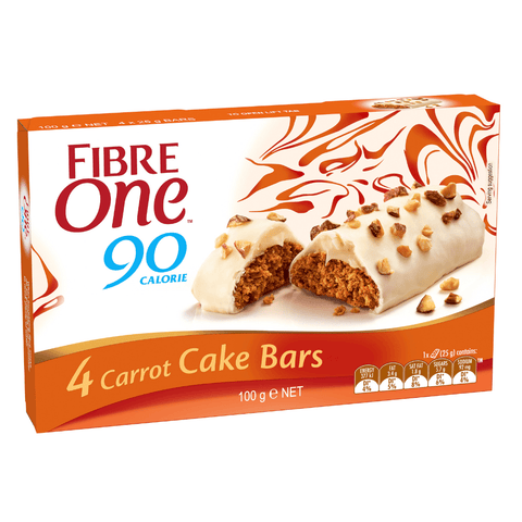 Fibre One 90 Calorie Carrot Cake Bars 4 x 25g