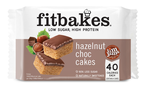 Fitbakes Hazelnut High Protein Cake 70g (BB 08/05) - gymstop