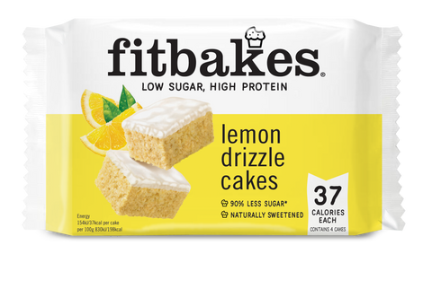 Fitbakes Lemon Drizzle High Protein Cakes 70g (BB 08/05) - gymstop
