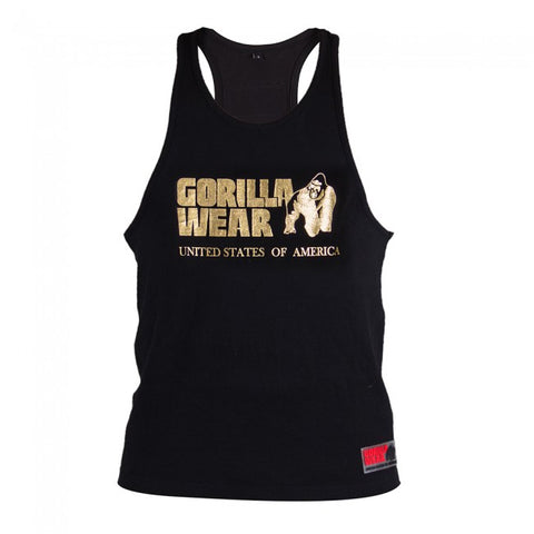 Gorilla Wear Classic Tank Top - Black/Gold - gymstop